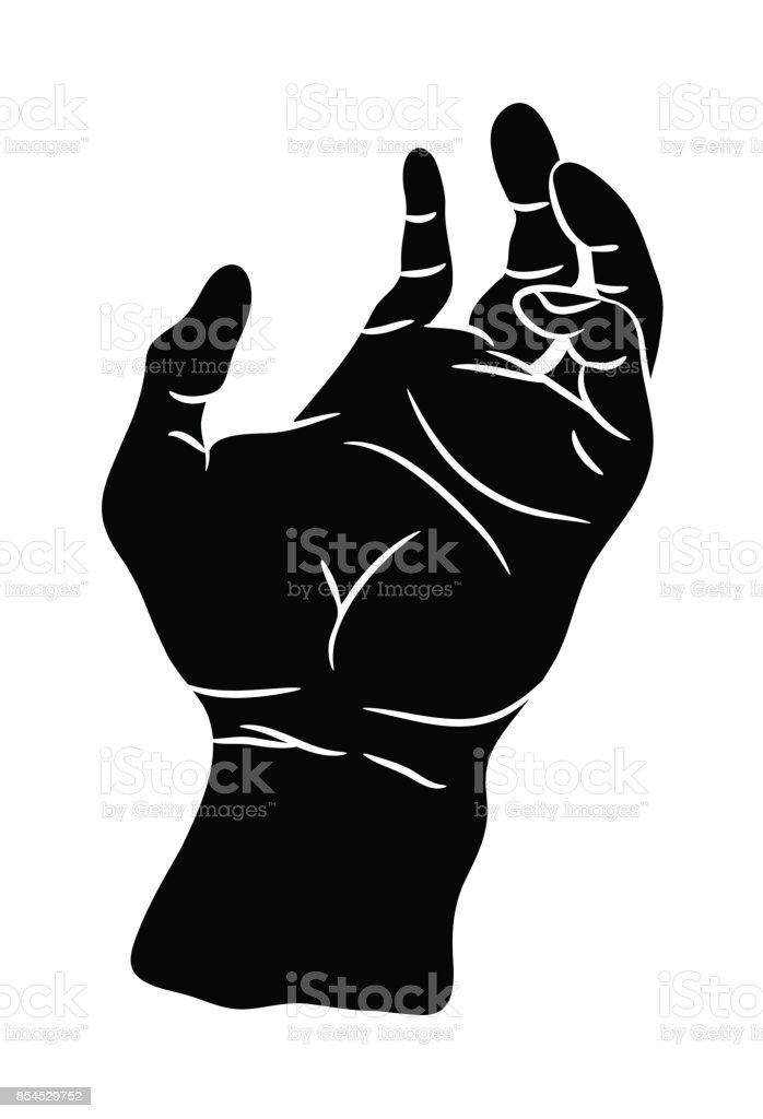 Hand Palm Vector Symbol Icon Design Beautiful Illustration Isolated