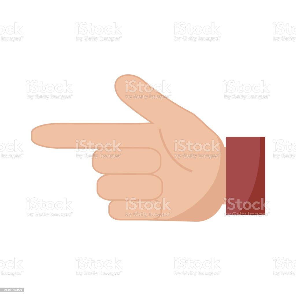 Hand pointer icon. vector art illustration