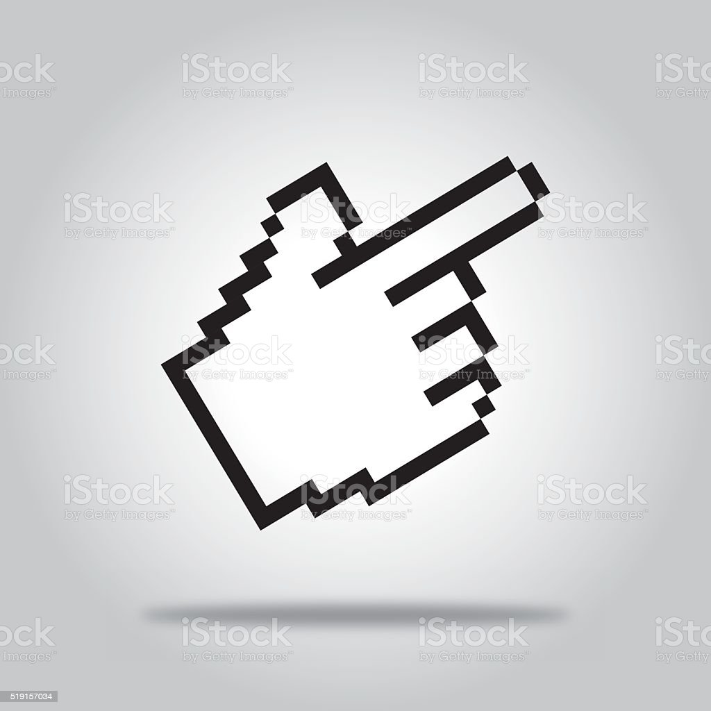 Hand Pointing Icon vector art illustration