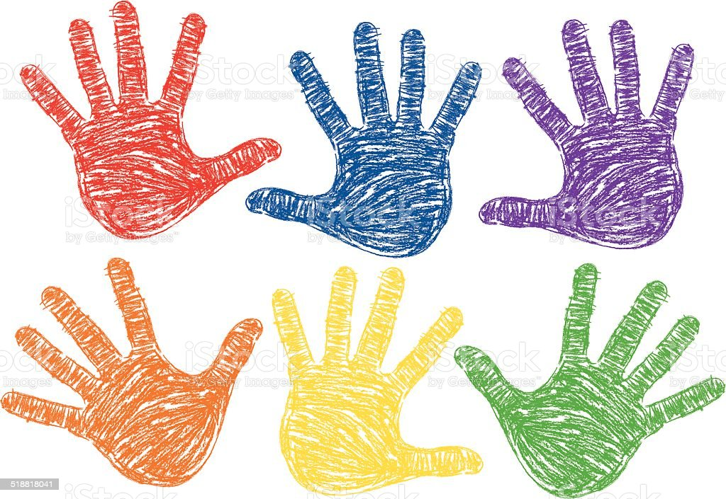 Hand Prints vector art illustration