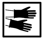Hand Protection Sign of Precautionary Pictogram