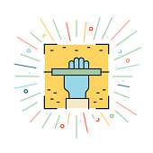 istock Hand Reader Line Icon 1307528315