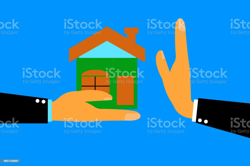 Hand - Refuse House From Other royalty-free hand refuse house from other stock vector art & more images of no people