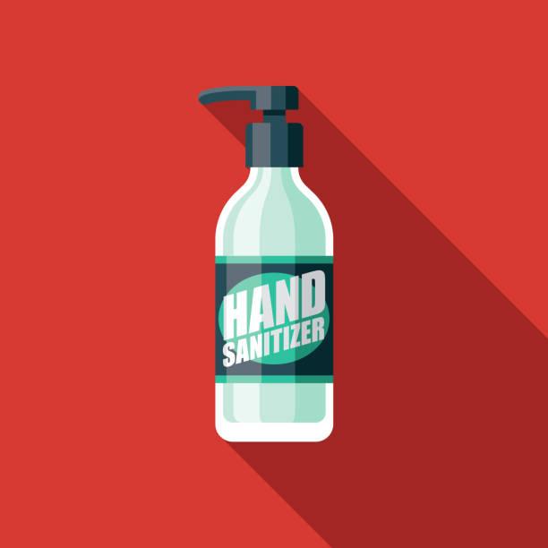 ilustraciones, imágenes clip art, dibujos animados e iconos de stock de coronavirus de desinfectante de manos covid-19 icono - hand sanitizer