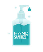 Hand sanitizer for cleaning and sterilizing hands.