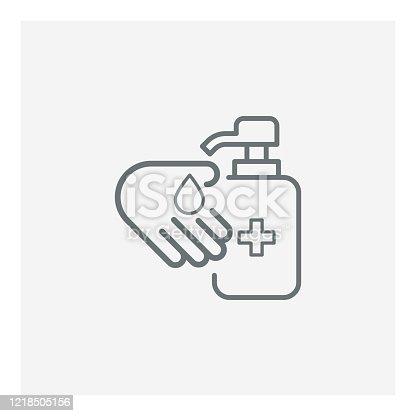 Hand sanitizer icon,vector illustration. EPS 10.