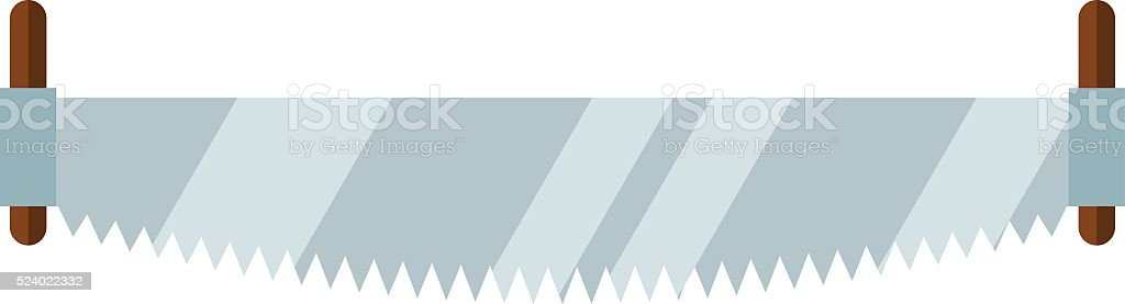 Hand saw tools hand equipment flat vector isolated on white vector art illustration