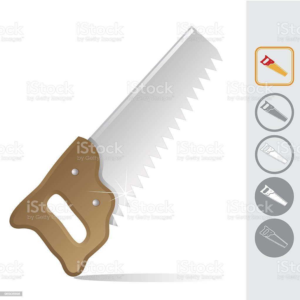 hand saw royalty-free hand saw stock vector art & more images of activity