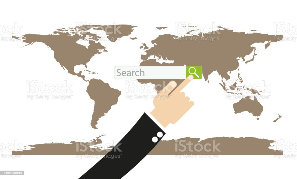 Hand searching on world map royalty-free hand searching on world map stock vector art & more images of arrival
