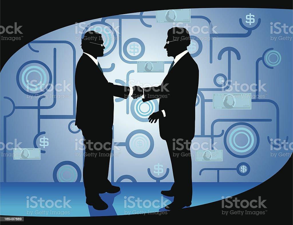 Hand Shake of International Business Men royalty-free stock vector art