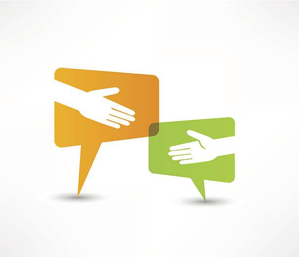 hand shake vector art illustration