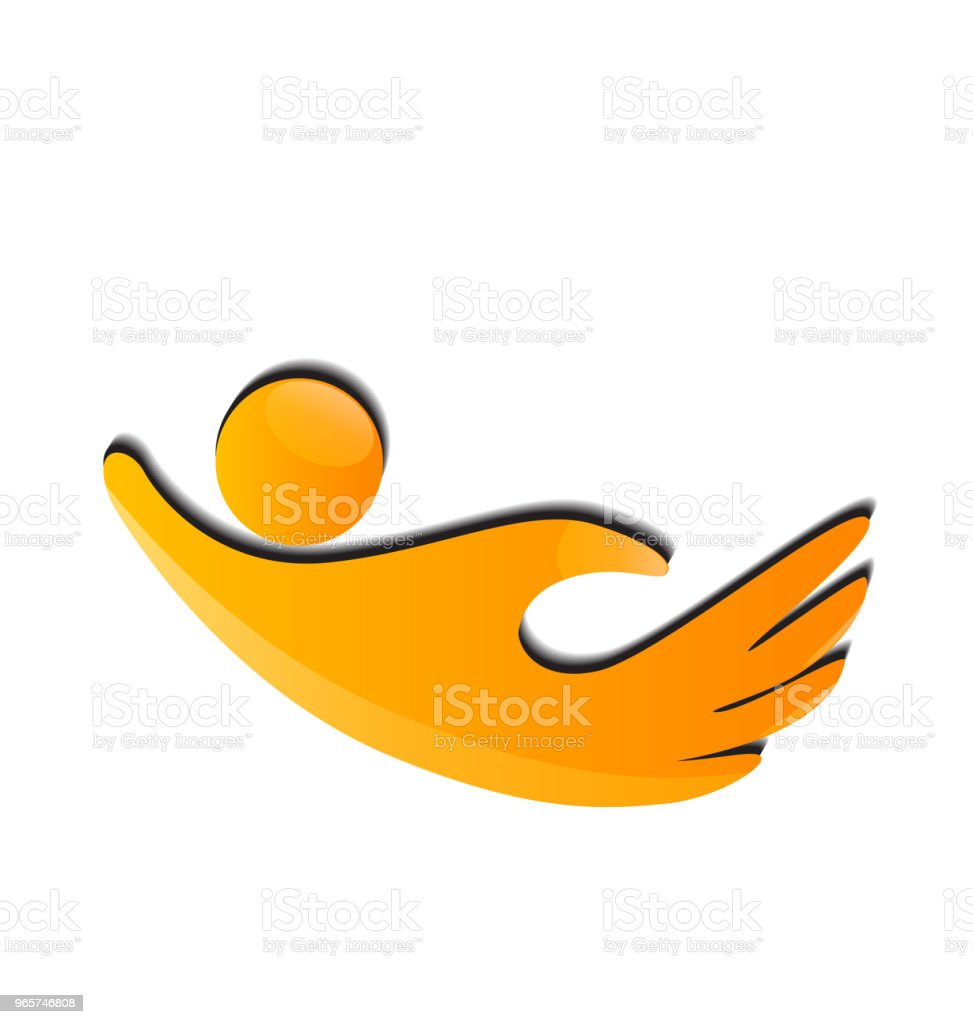 Hand shape people icon vector template - Векторная графика Бизнес роялти-фри