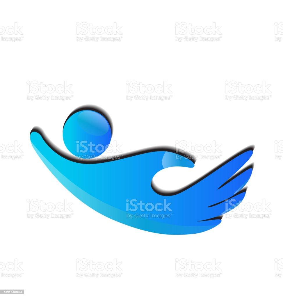 Hand vorm mensen-pictogrammalplaatje vector - Royalty-free Advertentie vectorkunst