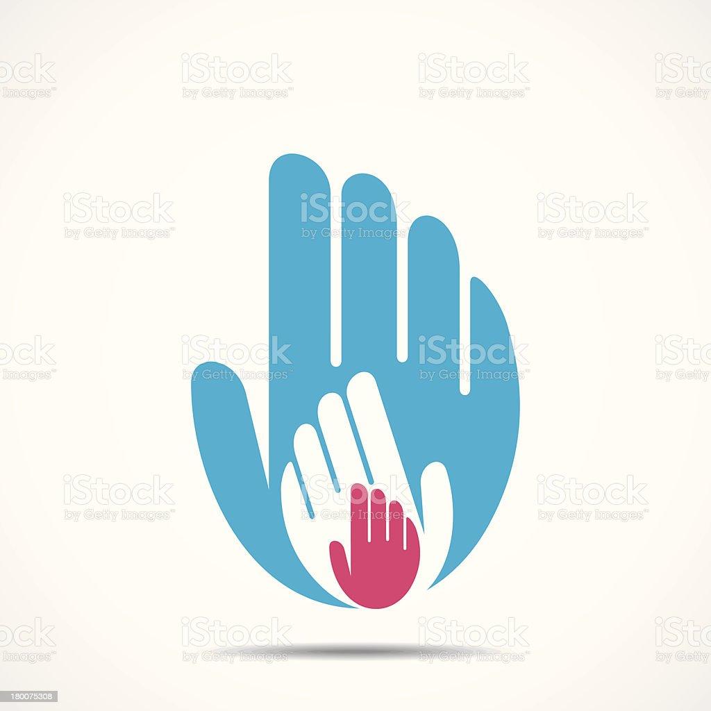 hand show unity royalty-free stock vector art