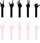 Vector illustration - Hand Sign, Gesturing.