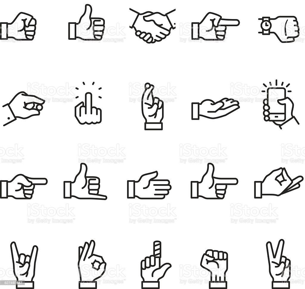 Hand sign icon vector art illustration