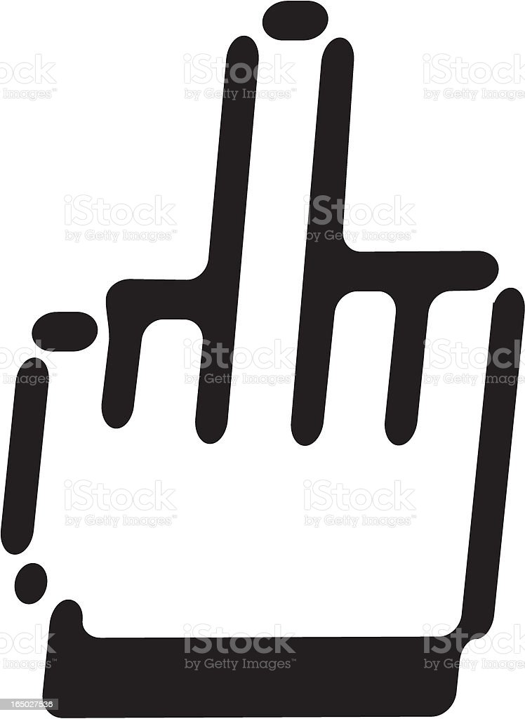 hand sign royalty-free hand sign stock vector art & more images of aggression