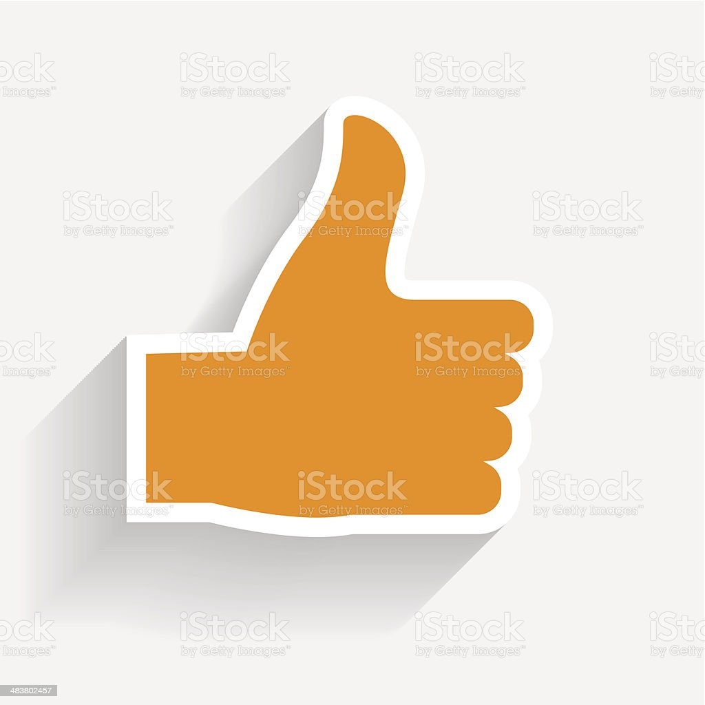 Hand signal on white. vector illustration. EPS 10. vector art illustration
