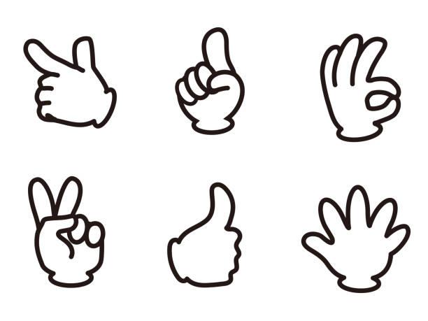 hand signal3 - palec stock illustrations