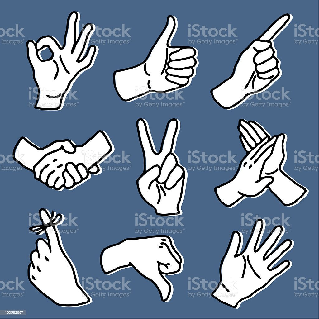 hand signs set royalty-free hand signs set stock vector art & more images of applauding