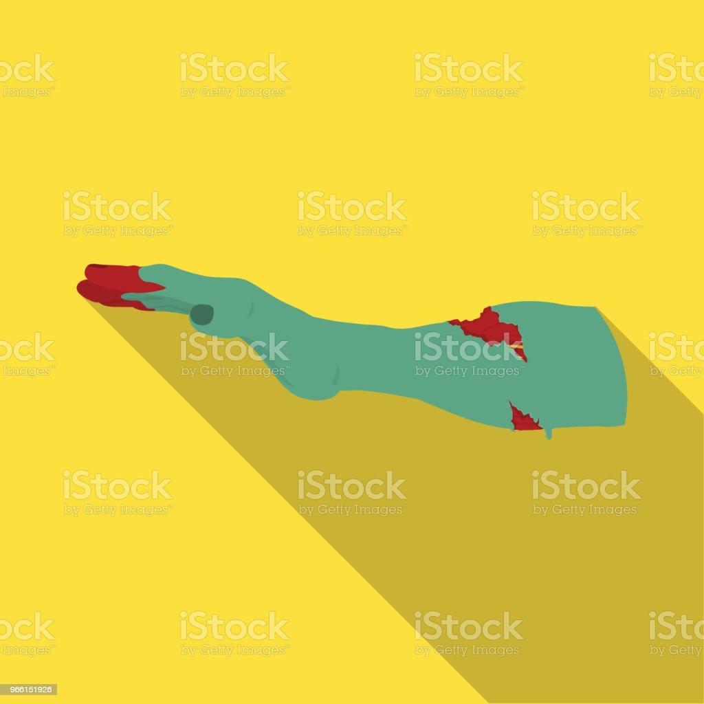 Hand, enkel pictogram in vlakke stijl. Hand vector symbool stock illustratie web. - Royalty-free Besmettelijke ziekte vectorkunst