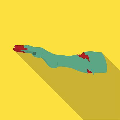 Hand Enkel Pictogram In Vlakke Stijl Hand Vector Symbool Stock Illustratie Web Stockvectorkunst en meer beelden van Besmettelijke ziekte
