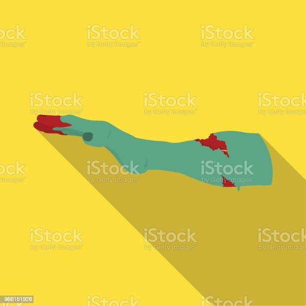 Mano Singola Icona In Stile Piatto Web Illustrazione Stock Simbolo Vettore Mano - Immagini vettoriali stock e altre immagini di Distruzione