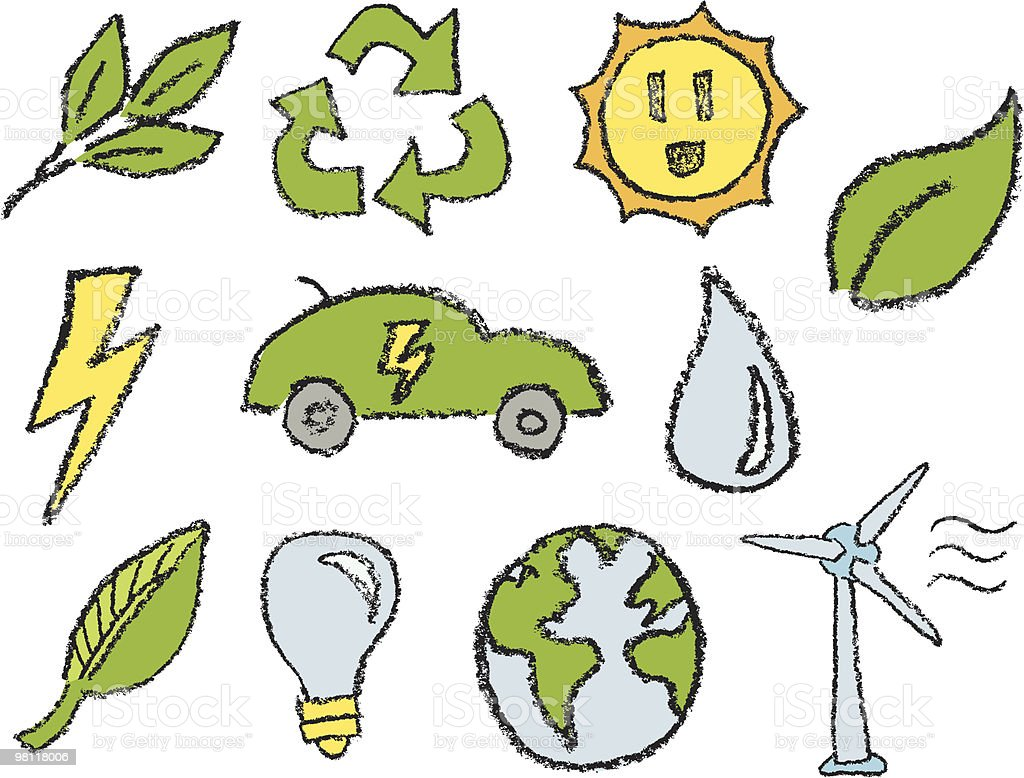 Hand Sketched Eco Icons royalty-free hand sketched eco icons stock vector art & more images of alternative energy