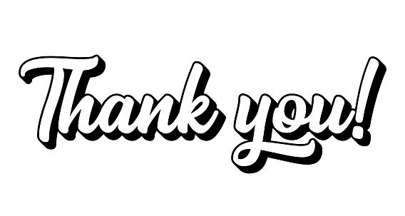Hand sketched Thank You quote. Lettering for banner, flyer, poster, ad, web, invitation, card. Vector illustration