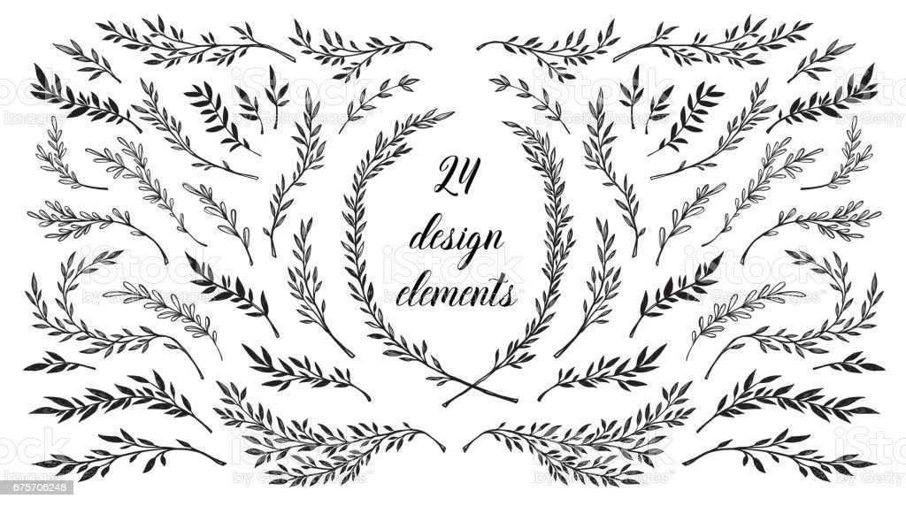 hand sketched vector vintage elements wild and free perfect for