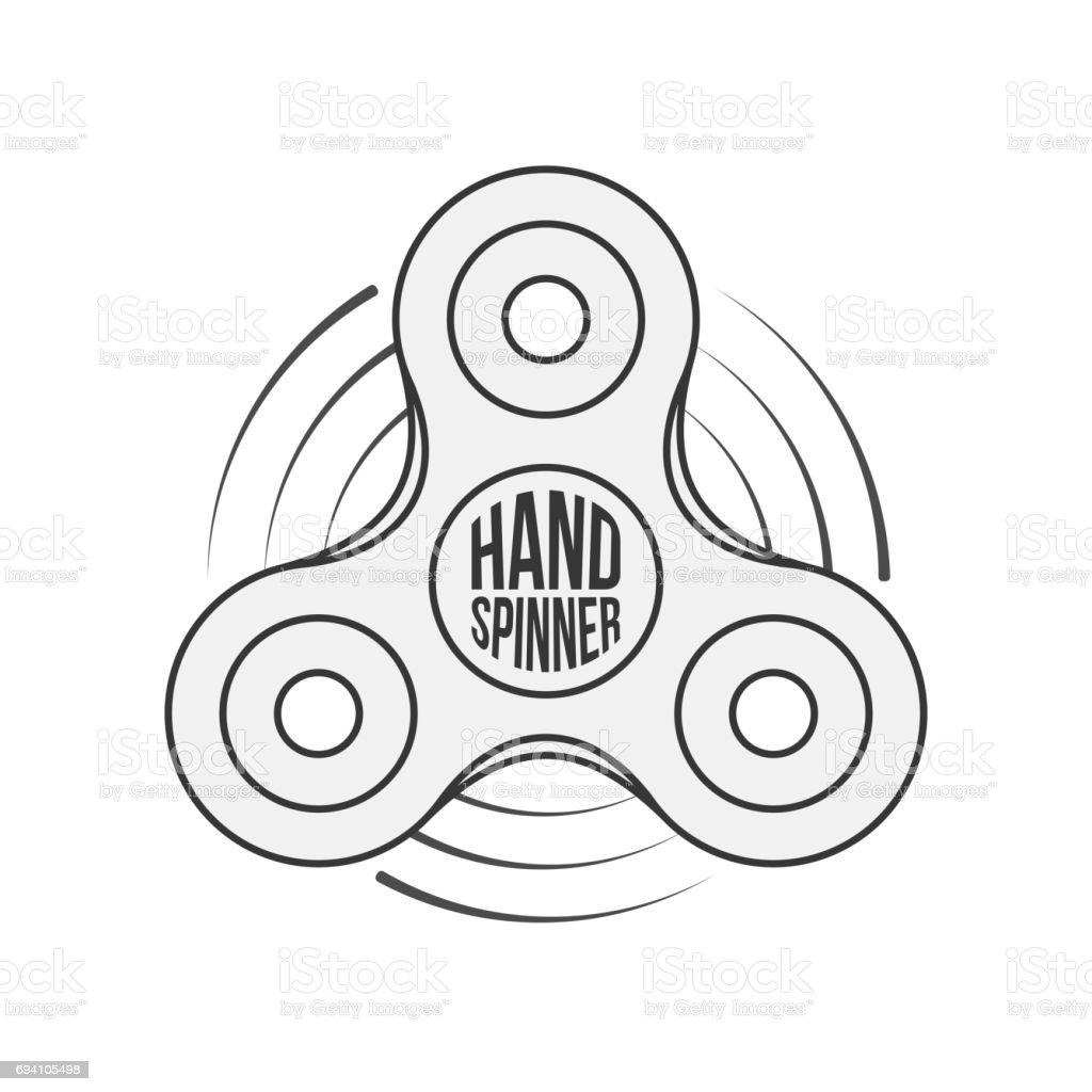 hand spinner badge label or banner template stock vector art more