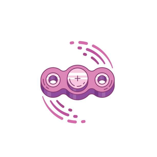 Hand Spinner Vector Art Illustration