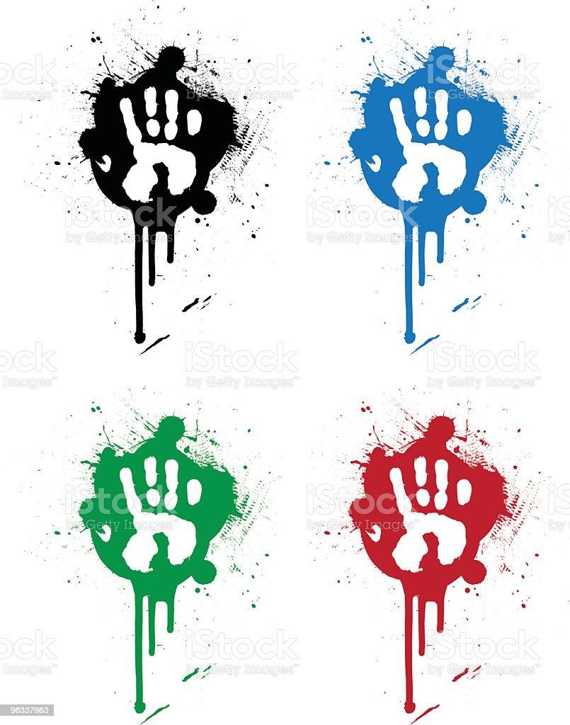 Hand Splatter vector art illustration