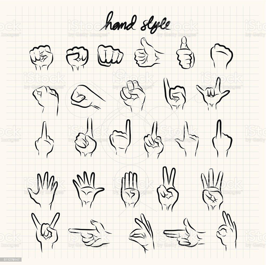 Hand style doodle sketch vector art illustration