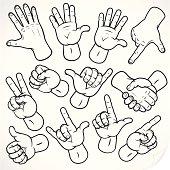 Hand Symbol Icons