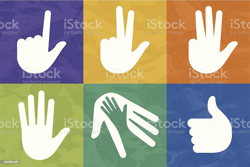 Hand Symbols royalty-free stock vector art