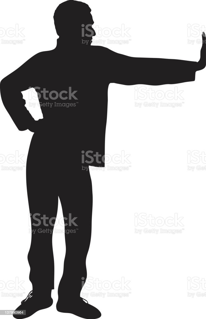 Hand to the Wall royalty-free stock vector art