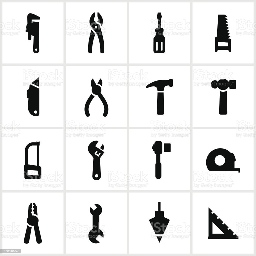 Hand Tool Icons royalty-free stock vector art