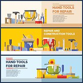 Hand tools for repare of house