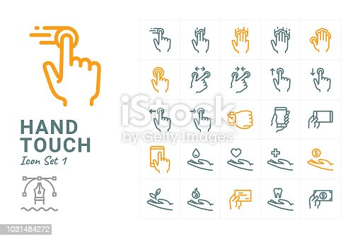 Hand Touch vector icon