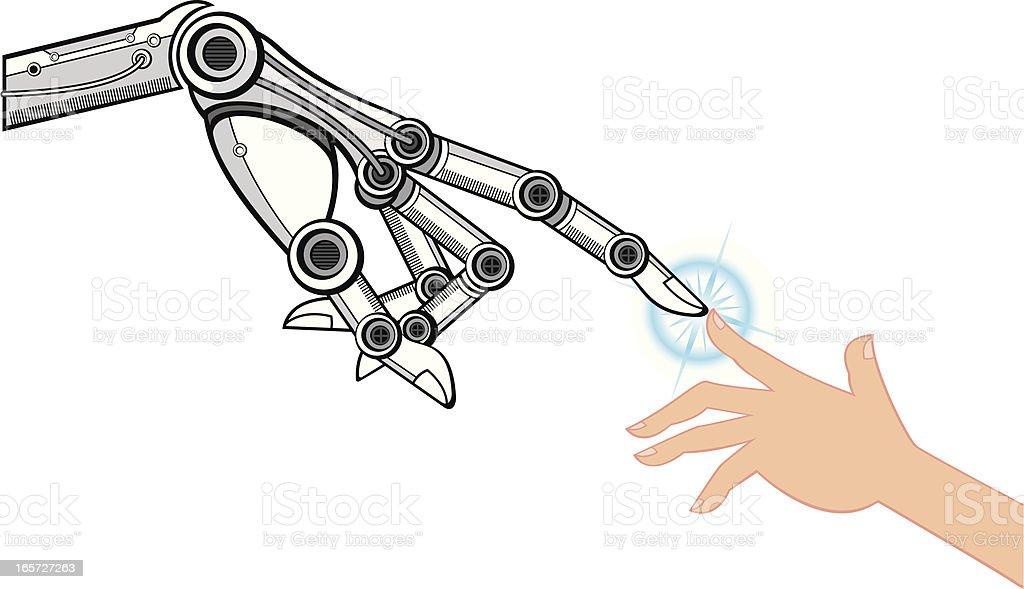 hand touch vector art illustration