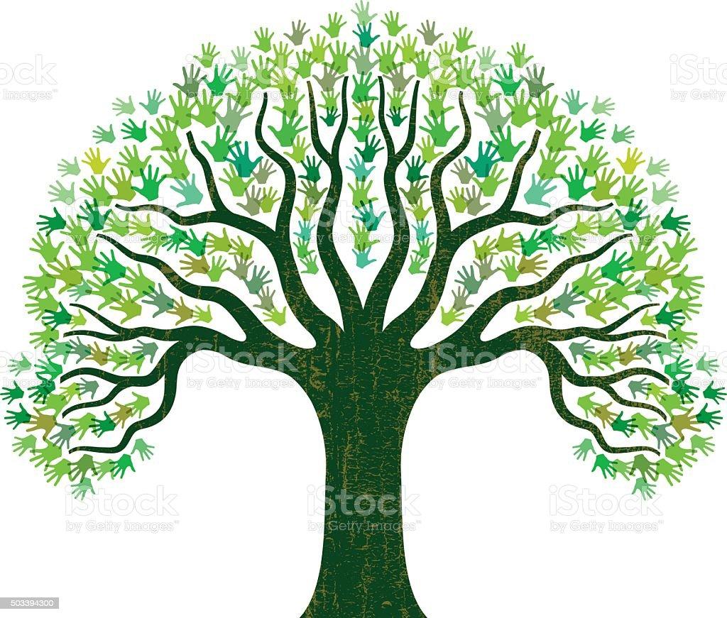 Vector Illustration Tree: Hand Tree Illustration Stock Illustration