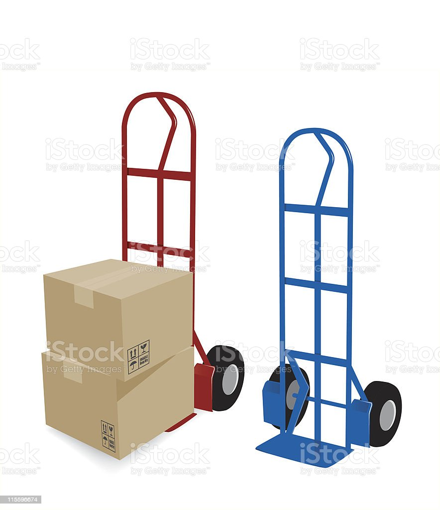 Hand Truck Delivery royalty-free stock vector art