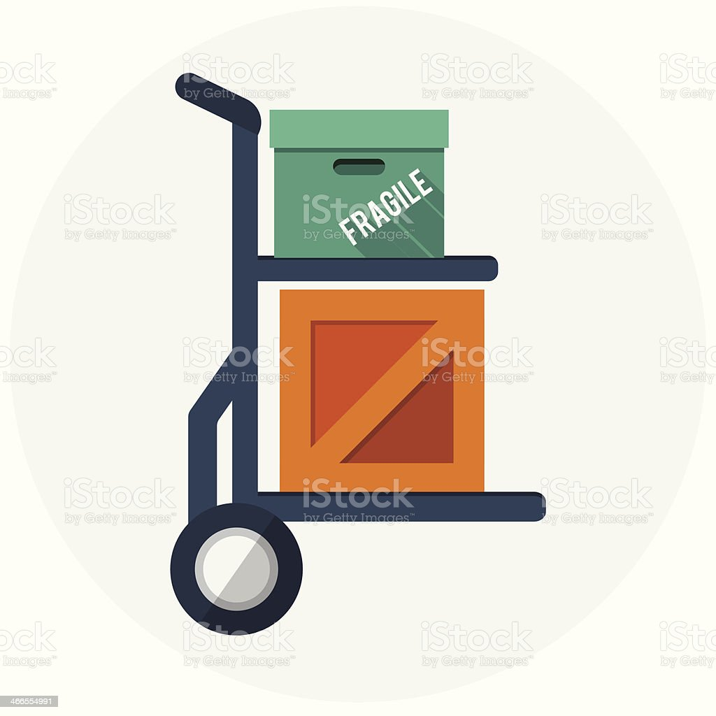 Hand truck icon royalty-free hand truck icon stock vector art & more images of accessibility