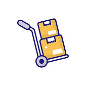 istock Hand Truck vector icon style illustration. EPS 10 File 1319614723