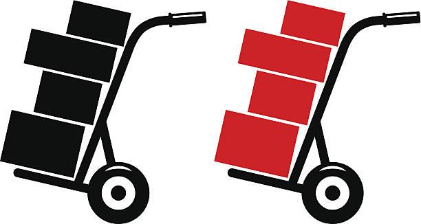 wózek transportowy - wózek transportowy stock illustrations