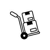 istock Hand Truck vector Solid icon style illustration. EPS 10 File 1318750850