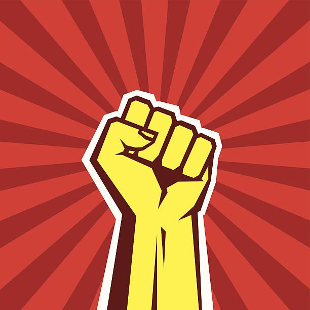 ハンドアップ proletarian 革命-ベクトルイラストコンセプト - 拳 イラスト点のイラスト素材/クリップアート素材/マンガ素材/アイコン素材
