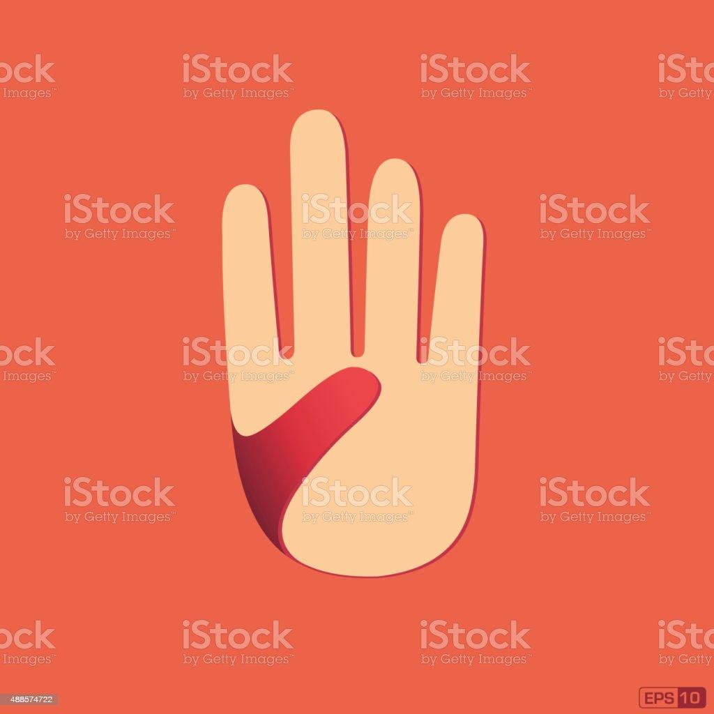 hand ( isolated ) vector art illustration