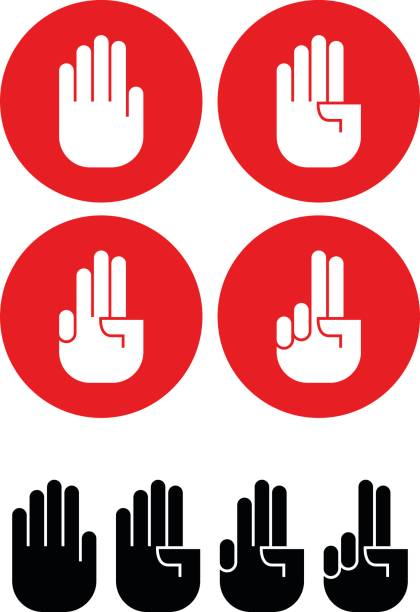 stockillustraties, clipart, cartoons en iconen met hand - swearing